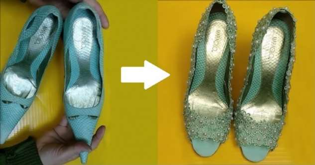Стильные и удобные туфельки из старья