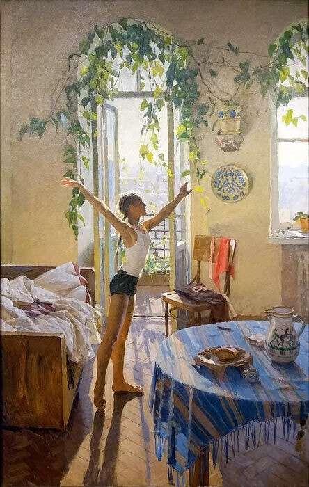 История девочки с картины «Утро»
