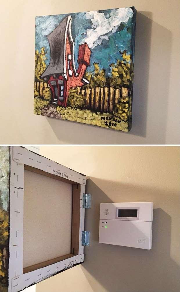 Никто и не догадается, где в вашем доме расположен неприглядный электрический щиток