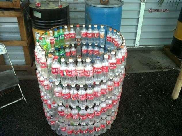 Как сделать мусорный бак из старых пластиковых бутылок