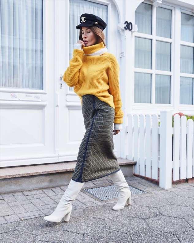 Как носить высокие сапоги: рекомендации стилистов и 30+ шикарных сочетаний