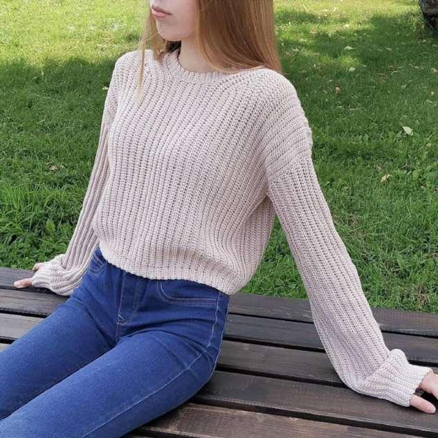 Как связать свитер крючком