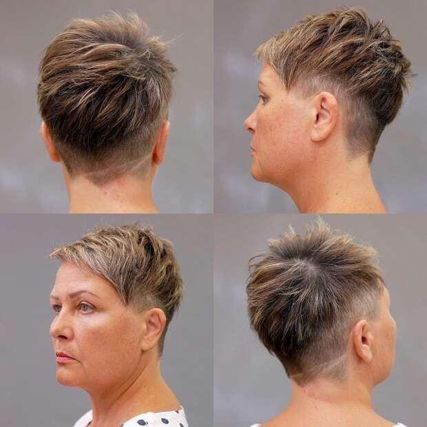 20 шикарных стрижек на короткие волосы для дам 40-50 лет: +вид сзади