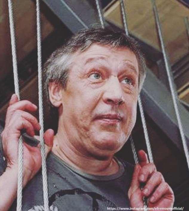 Михаил Ефремов заявил, что не узнает себя на записях, где он нарушает ПДД