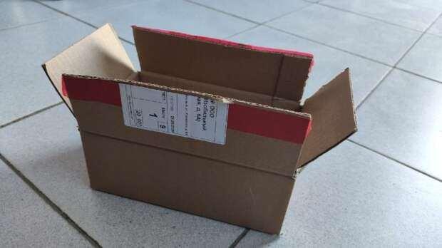 Красивое и недорогое преображение простой картонной коробки
