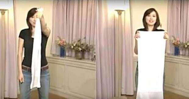 Простое движения для похудения: понадобится полотенце и всего 1 минута в день!