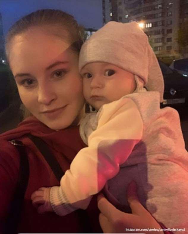 Юлия Липницкая первый раз показала лицо 4-месячной дочки