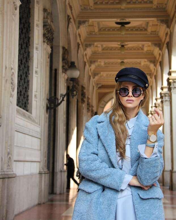 Голубое пальто: 18 идей, которые превосходно освежат ваш образ