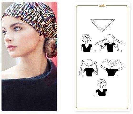 Как красиво повязать платок на голове и шее?